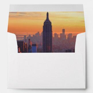 NYC Skyline: Empire State Building Orange Sunset 2 Envelope