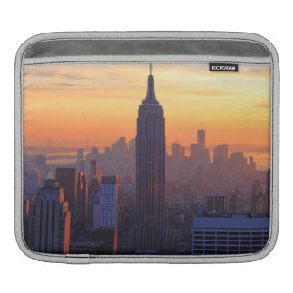 NYC Skyline: Empire State Building Orange Sunset 2 Sleeves For iPads