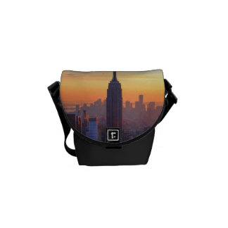 NYC Skyline: Empire State Building Orange Sunset 2 Messenger Bag