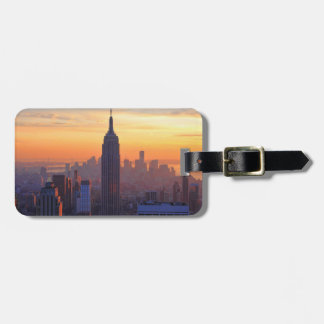 NYC Skyline: Empire State Building Orange Sunset 2 Tag For Luggage
