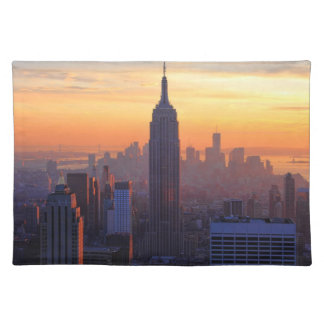 NYC Skyline: Empire State Building Orange Sunset Placemat
