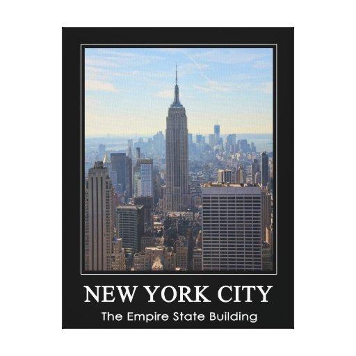 NYC Skyline Empire State Building, World Trade 1C Canvas Print