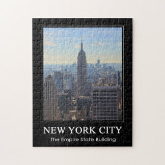 NYC Skyline Empire State Building, World Trade 1C Jigsaw Puzzle