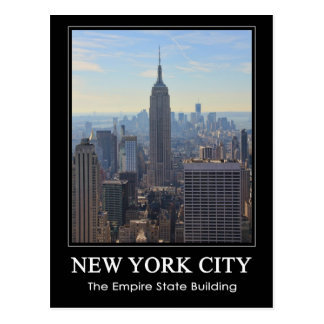 NYC Skyline Empire State Building, World Trade 1C Postcard
