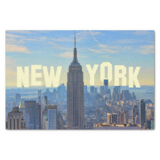 """NYC Skyline Empire State Building, World Trade 2C 10"""" X 15"""" Tissue Paper"""