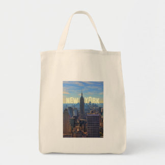 NYC Skyline Empire State Building, World Trade 2C Tote Bag