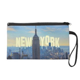 NYC Skyline Empire State Building, World Trade 2C Wristlet Purses