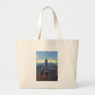 NYC Skyline Empire State Building, World Trade 2C Tote Bags