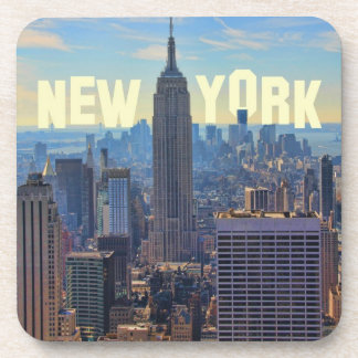 NYC Skyline Empire State Building, World Trade 2C Beverage Coasters