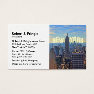 NYC Skyline Empire State Building, World Trade 2C Business Card