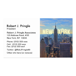 NYC Skyline Empire State Building, World Trade 2C Business Card Templates