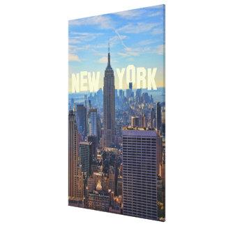 NYC Skyline Empire State Building, World Trade 2C Canvas Print