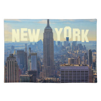 NYC Skyline Empire State Building, World Trade 2C Cloth Placemat