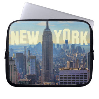 NYC Skyline Empire State Building, World Trade 2C Computer Sleeve