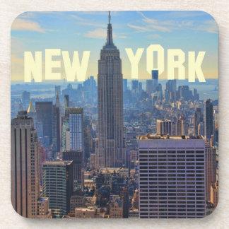 NYC Skyline Empire State Building, World Trade 2C Coaster