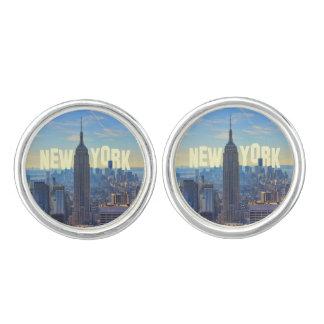 NYC Skyline Empire State Building, World Trade 2C Cufflinks
