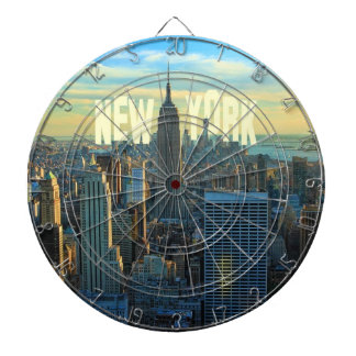 NYC Skyline Empire State Building, World Trade 2C Dart Board