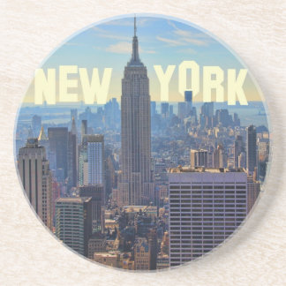 NYC Skyline Empire State Building, World Trade 2C Drink Coasters