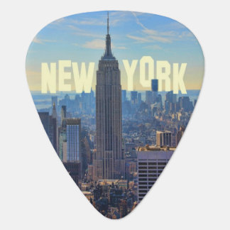 NYC Skyline Empire State Building, World Trade 2C Guitar Pick