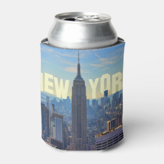 NYC Skyline Empire State Building World Trade 2C L Can Cooler