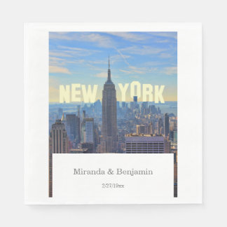 NYC Skyline Empire State Building World Trade 2C L Standard Luncheon Napkin