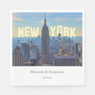 NYC Skyline Empire State Building World Trade 2C L Paper Napkin