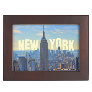 NYC Skyline Empire State Building, World Trade 2C Memory Box