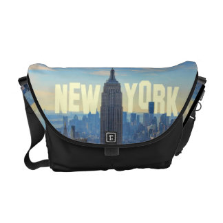 NYC Skyline Empire State Building, World Trade 2C Courier Bag