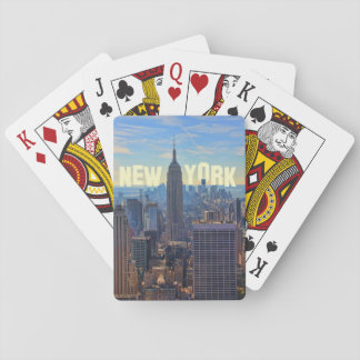 NYC Skyline Empire State Building, World Trade 2C Poker Deck