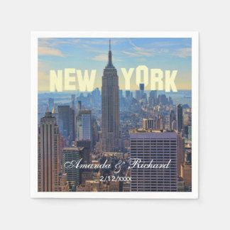 NYC Skyline Empire State Building, World Trade 2C Disposable Napkins