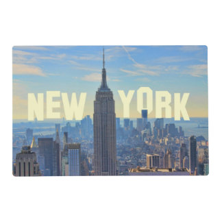 NYC Skyline Empire State Building, World Trade 2C Placemat