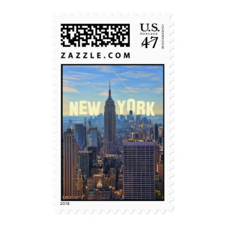 NYC Skyline Empire State Building, World Trade 2C Postage