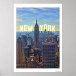 NYC Skyline Empire State Building, World Trade 2C Print