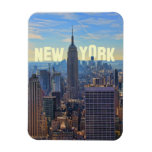 NYC Skyline Empire State Building, World Trade 2C Rectangle Magnet