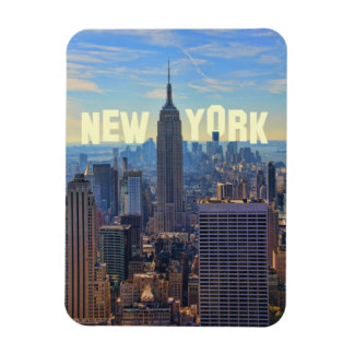NYC Skyline Empire State Building, World Trade 2C Rectangular Photo Magnet