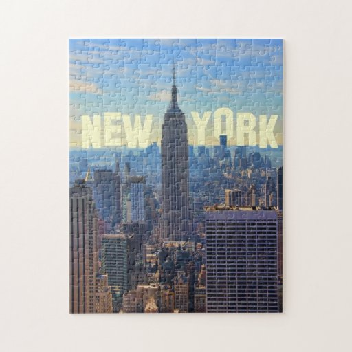 NYC Skyline Empire State Building, World Trade 2C Puzzle
