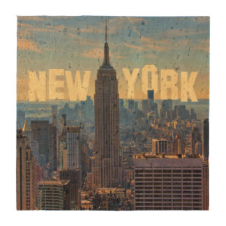 NYC Skyline Empire State Building, World Trade 2C Coasters