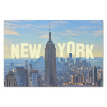 NYC Skyline Empire State Building, World Trade 2C Tissue Paper