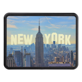 NYC Skyline Empire State Building, World Trade 2C Trailer Hitch Cover
