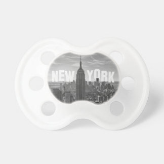 NYC Skyline Empire State Building World Trade 2CBW BooginHead Pacifier