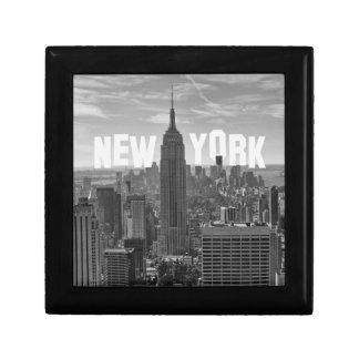 NYC Skyline Empire State Building World Trade 2CBW Trinket Box