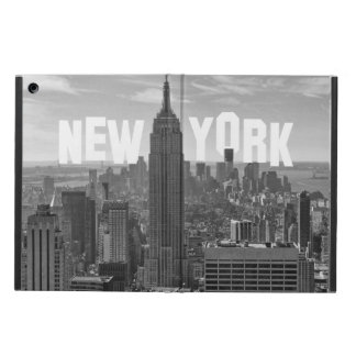 NYC Skyline Empire State Building World Trade 2CBW Cover For iPad Air