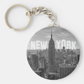 NYC Skyline Empire State Building World Trade 2CBW Keychain