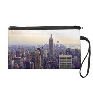 NYC skyline Empire State Building, WTC 4 Wristlet Purses
