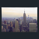 """NYC skyline Empire State Building, WTC 4 Cloth Placemat<br><div class=""""desc"""">NYC skyline Empire State Building,  WTC 4   The New York City skyline with the Empire State Building,  Bank of America Tower,  and 4 Times Square  prominently in the foreground,  with a backdrop of lower Manhattan.   2012 &#169;NYCisMyMuse All rights reserved</div>"""