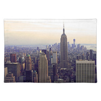NYC skyline Empire State Building, WTC 4 Cloth Placemat