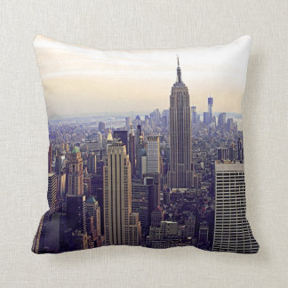 NYC skyline Empire State Building, WTC 4 Pillow