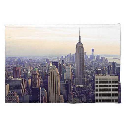 NYC skyline Empire State Building, WTC 4 Place Mats