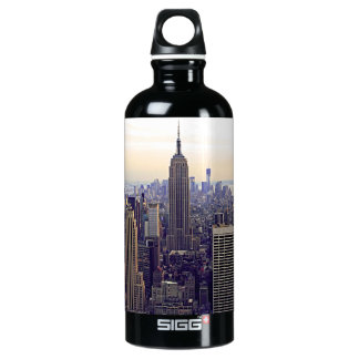 NYC skyline Empire State Building, WTC 4 Water Bottle