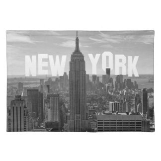 NYC Skyline Empire State Building, WtC BW 2C Placemat